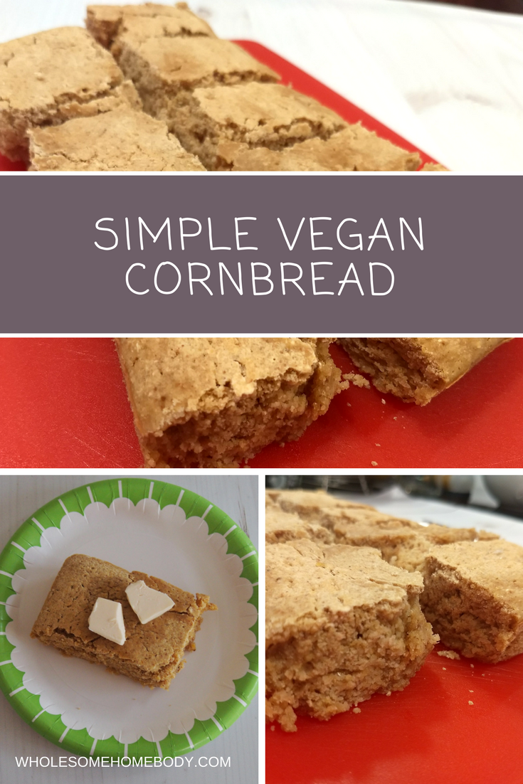 Simple Vegan Cornbread