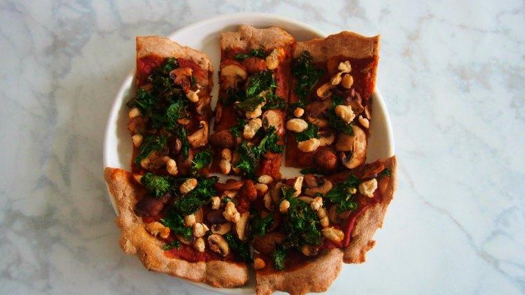 Mushroom, Kale, & White Bean Pizza